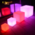 colorful light up cube chair led light large/small plastic cubes PE led table