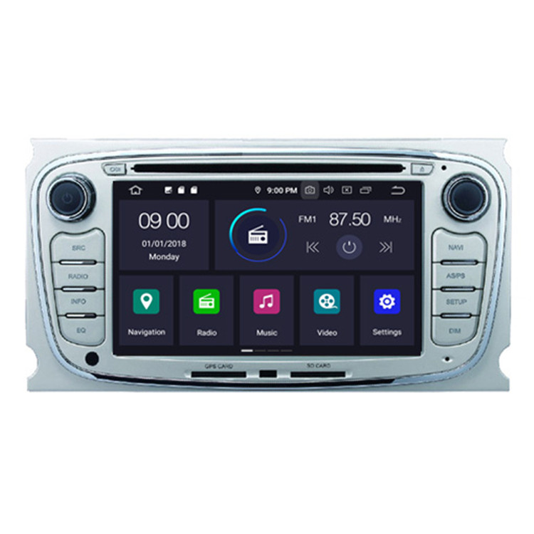 Hifimax Android 9.0 auto stereo auto monitor voor Ford android navigatiesysteem voor ford mondeo mk4/FOCUS/S-MAX /GALAXY 2008-2012