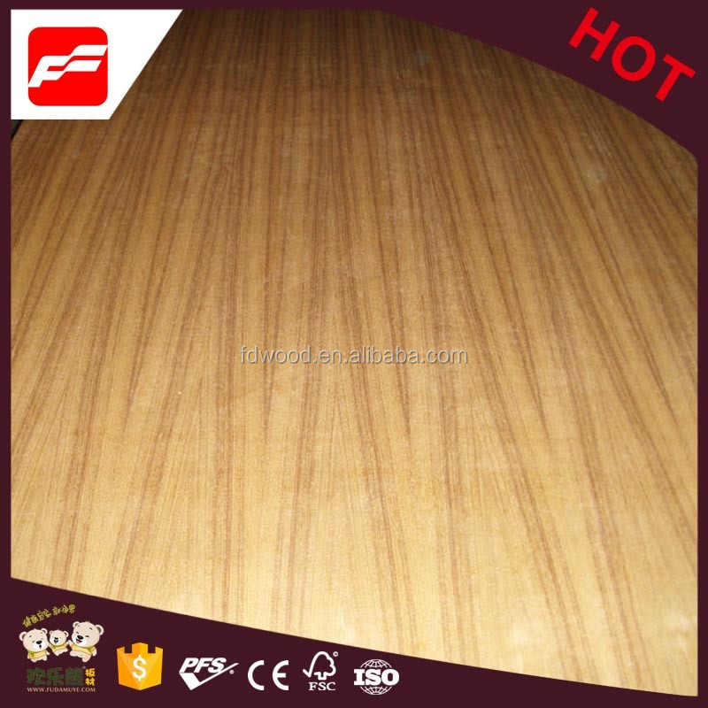 AA Grade Natural Cut straight grain Teak Plywood for furniture from linyi