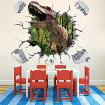 Syene Kids Room Decoration 3d Dinosaur Stickers Wall Decal 3d Cartoon Dinosaur  Wall Stickers Home Decor