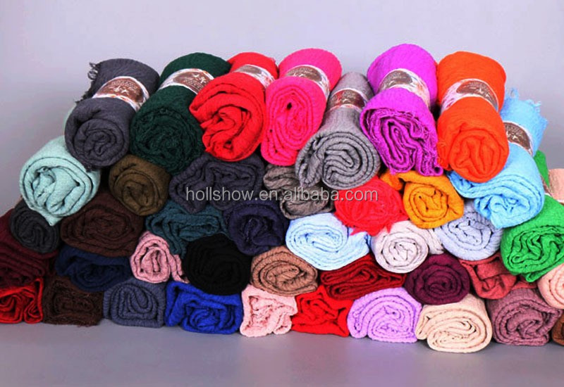 Hot Selling Popular Fashion Muslim Women Hijab Crepe Scarf