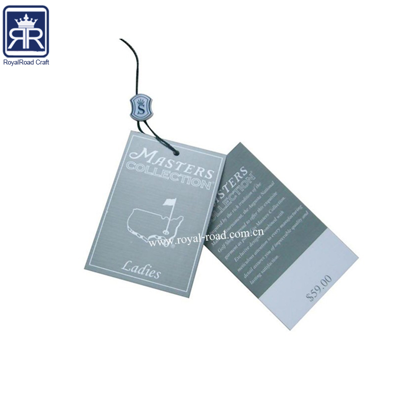 Custom branded Matt Lamination Animal Shaped garment paper personalized cloth hang tags with rope