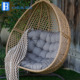 outdoor poly rattan hanging swing chair balcony egg chairs