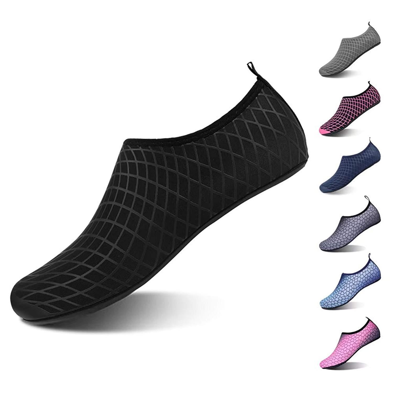 JIAWA Mens Outdoor Water Shoes Womens Kids Barefoot Quick Dry Aqua Socks for Swim Walking Yoga Lake Beach Boating