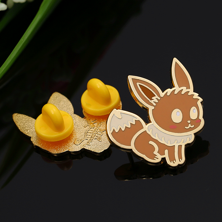 Customize gold metal cloisonne enamel animal brooch pins