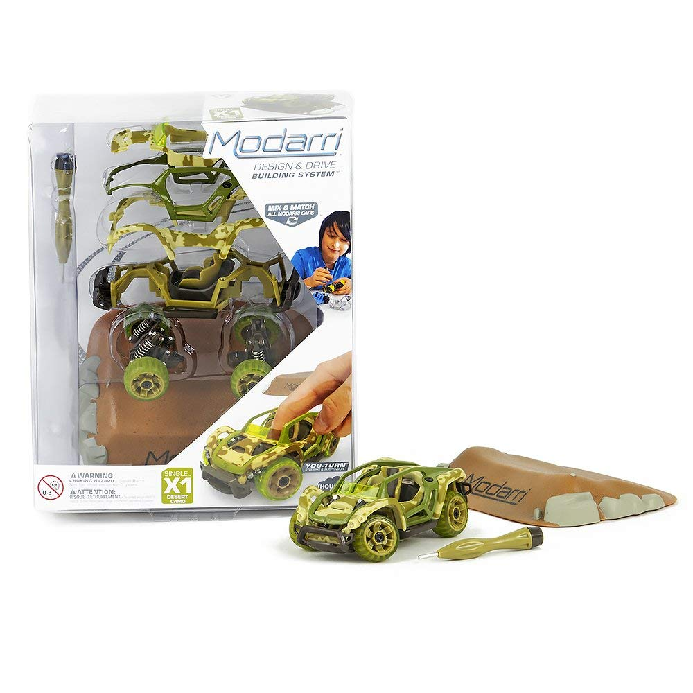 Modarri X1 Desert Camo car | STEM Educational Toy Cars | Make a model car - Design your own working race cars | Fun and Functional Building Toys for kids | Girls and Boys Gifts Age 5-10