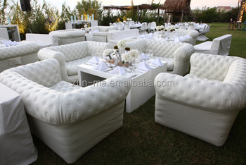 Commercial Grade Plastic Inflatable Sectional Sofa Furniture, Wholesale  Discount Air Sofas