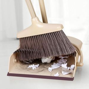 Dust Pan and Broom/Dustpan Cleans Broom Combo with Long Handle For Home Kitchen Room Office Lobby Floor Use