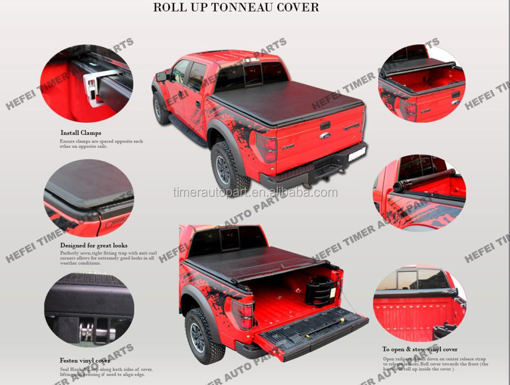 high quality Aluminum Frame car accessories 2016 truck bed Cover for Ranger Short Bed