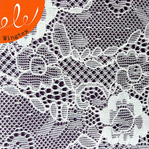 18cm Nylon Spandex Lace Trimming Stretch Net Jacquard Fabric For Sexy Lingerie