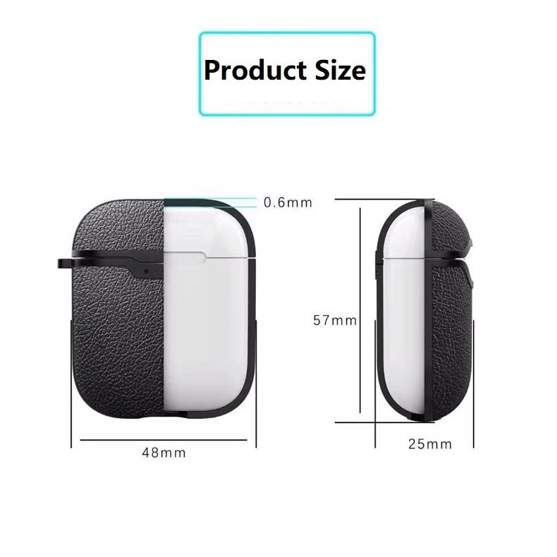 Free Ship Litchi Pattern Silicone Earphone Case for Airpods 2 Case with Wireless Charging Port Anti lost Anti Sweat Dustproof