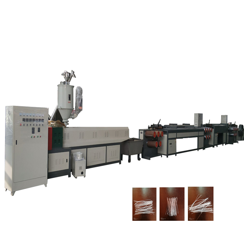 New condition pp pe film blowing binding rope making machine