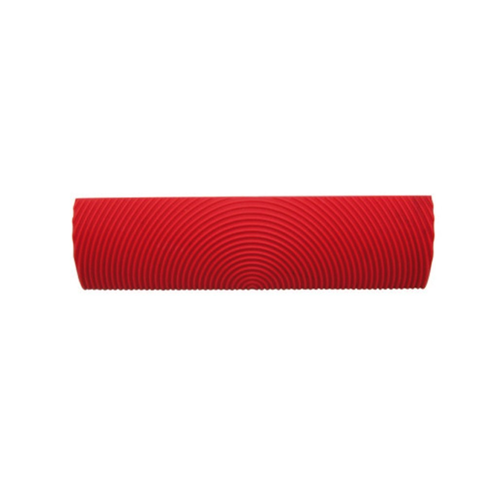 MagiDeal 6inch Embossing Wood Graining Texture Pattern Painting Roller Sleeve Brush Wall Decoration DIY Tool Red