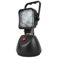"Super bright 3"" 15W portable rechargeable led stand work light with magnetic"