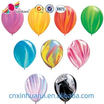 Wholesale Custom Printed Party Birthday Decoration Balloon Marble Latex Helium