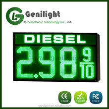 "12"" Green LED Gas Price Changer Diesel Fuel Gas Station Display"