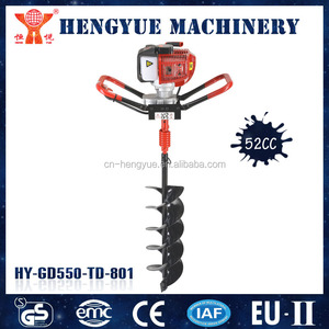 manual gasoline earth auger drill for agriculture hole digging