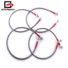 Brake Line for Civic EM2 ES1 ES2 01-05 Front Rear Red End Cap Stainless Steel Braided Hydraulic Oil Brake Cable Hose for Honda