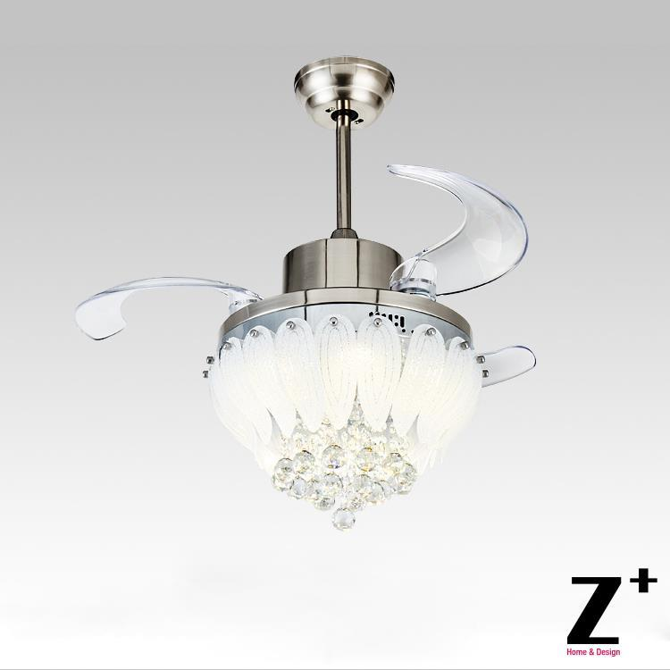 Chandelier Fan: American-modern-Style-Led-lights-Lotus-3-Collapsible-fan