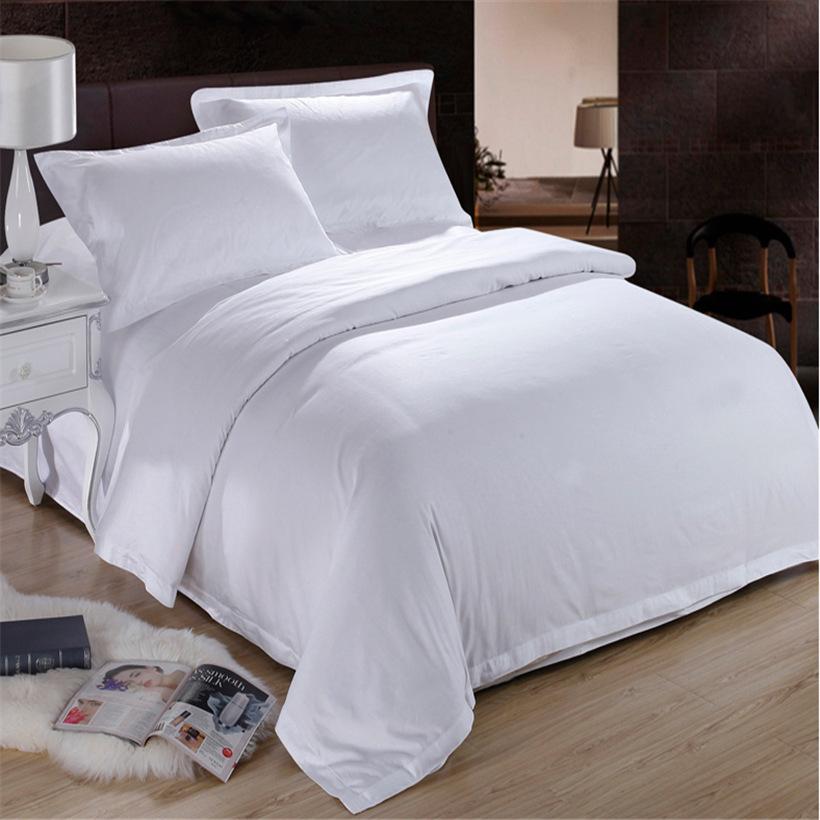 Khăn trải giường 100% Bông Trắng Bông Khách Sạn Vải Được Sử Dụng Khách Sạn Khăn Trải Giường