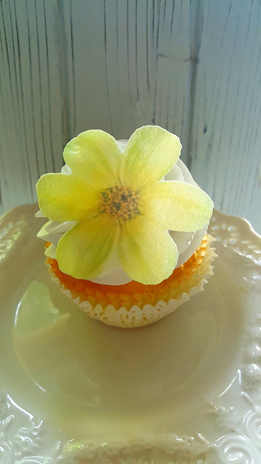 Cheap edible flowers for cake find edible flowers for cake deals on get quotations edible garden yellow flowers cake decorations cupcake toppers set of 12 izmirmasajfo