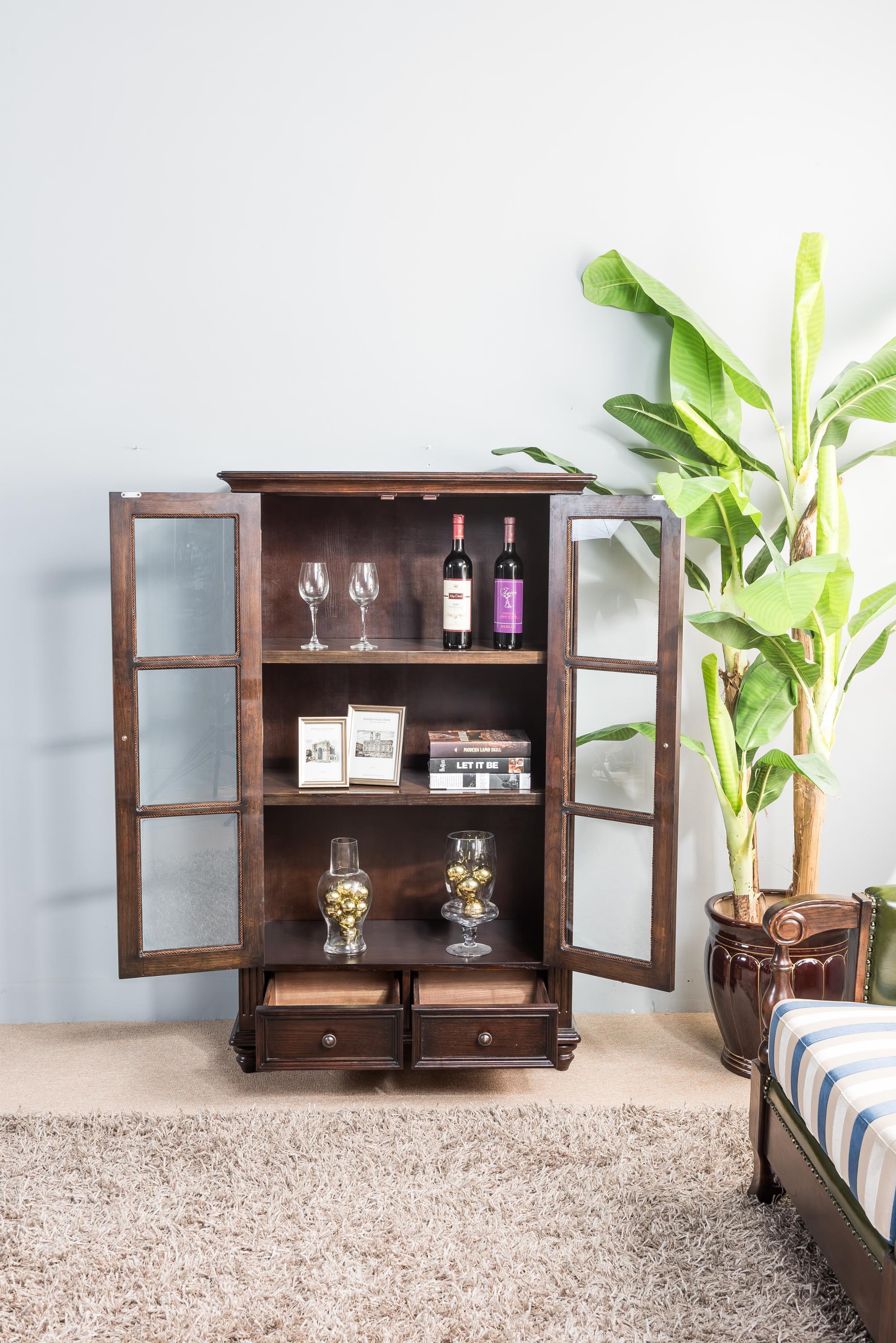 Living Room Showcase Design: New Rococo Style 2018 Fashion Living Room Showcase Design