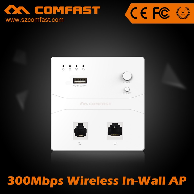 Convenient Function with power/WPS/RST Button COMFAST CF-E510N Wireless Hotel Inwall Ap/Wifi In Wall Access Point AP Router