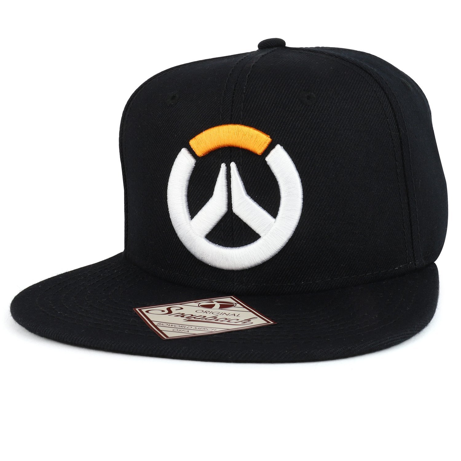 Armycrew Officially Licensed Overwatch 3D Logo Embroidered Snapback Cap
