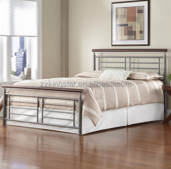 for sale metal full size bed frame with wood poster - Full Size Bed Frames For Sale