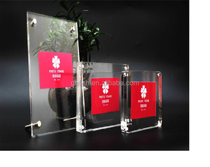 Customized acrylic crystal magnetic photo frame for pictures,college certificates