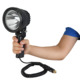rechargeable led handheld hunting spotlight with larger reflector portable for emergency