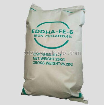 Chelated Iron Fertilizer Eddha Fe 6% 1 8-4 8 Agrochemicals Edta Ferrous  Sulphate Similar Product - Buy Eddha Fe,Edta,Ferrous Sulphate Product on