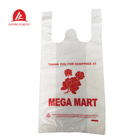 t-shirt bag customized recyclable plastic take to go grocery bags