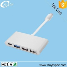 High Speed Multifunction Type c Hub 3.1 to 4 Ports 1 Type c 1 USB 3.0 And 2 USB 2.0 Adapter Online Shopping