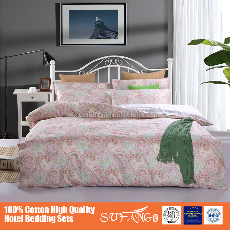 2016 Latest Luxury Hotel Bedding Set Design, 5-star Hotel Cotton/Poly Mix Bedding Bets