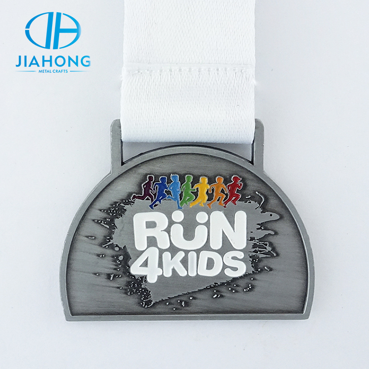 Factory direct metal run 4 kids sports medal