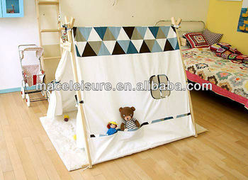 100% Cotton canvas triangle tipi indian kids bed tents & 100% Cotton canvas triangle tipi indian kids bed tents View kids ...