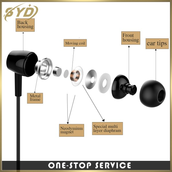 Manufacturers wholesale in ear wired earphone oem earphone for gift