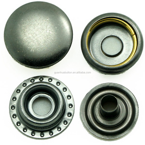 customized gun metal pewter color 405#15mm jacket snap button