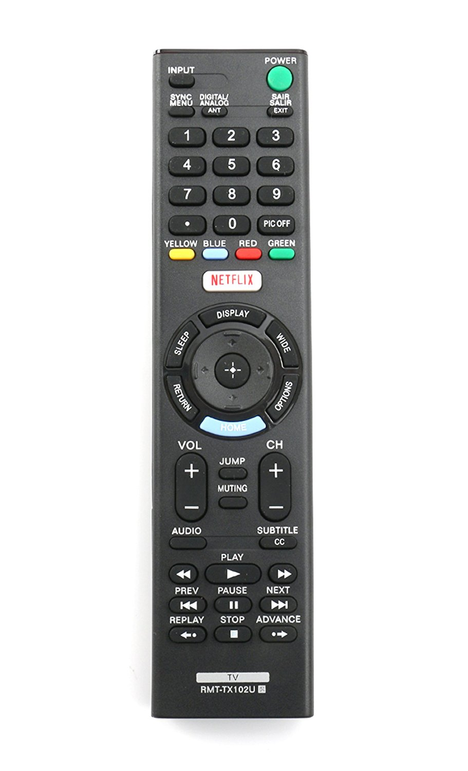 New RMT-TX102U Replaced Remote fit for Sony TV KDL-32R500C KDL-40R510C KDL-40R530C KDL-40R550C KDL-48R510C KDL-48R530C KDL-48R550C 149298011 KDL40R550C KDL48R510C KDL48R530C