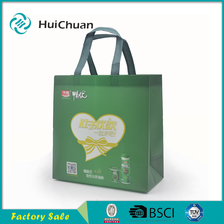 China manufacturer Factory light blue color folding recycable non woven shopping bag