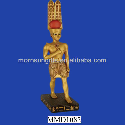 Amun-Ra Egyptian King of Gods Antique Custom Large Resin Statue