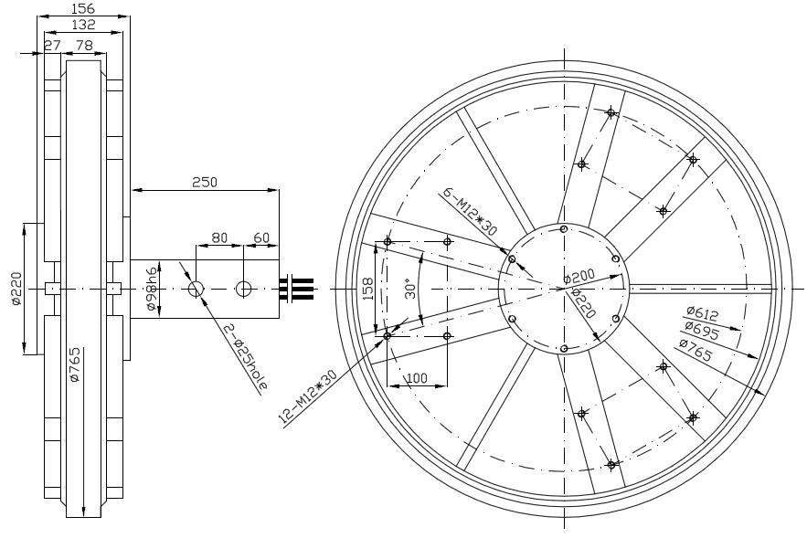 pmg770 10kw disc coreless wind turbine generator outer rotor three