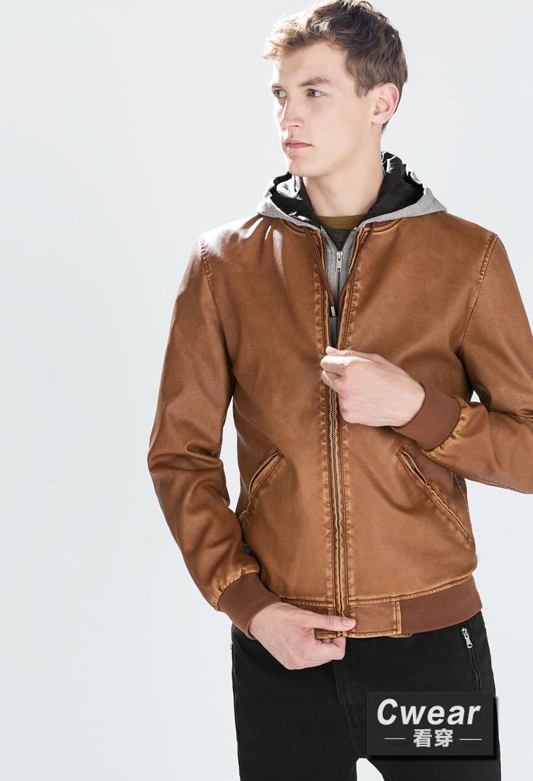 Fall 2015 Fashion Winter Men New Coats Camel Brown Grey Hoodie