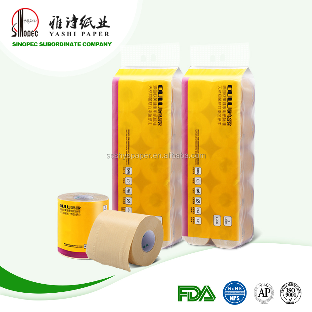 100% virgin bamboo enviromental tissue toilet paper 3ply 10 rolls
