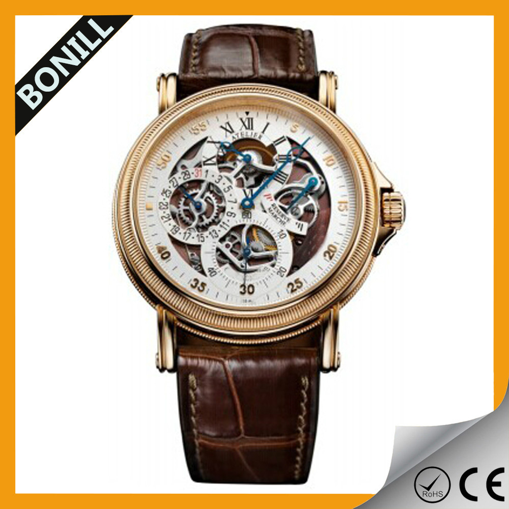 Waterproof factory automatic mechanical movement driect sale kinetic watches
