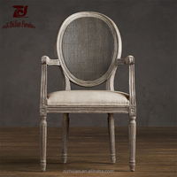 Rattan Comfortable Arm Restaurant Chair Dining Arm Chair ZJA11