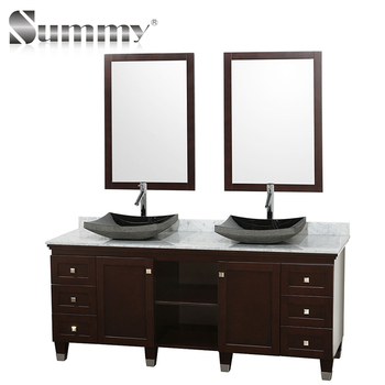 Clical Antique Style Vanity Units Bathroom Double Basin Cabinet