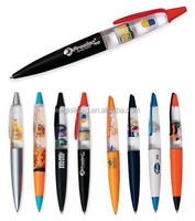 Promotional gift liquid crystal ball pen