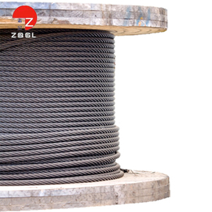 Tensile strength 1770 mpa galvanized wire rope reel steel 19mm compacted